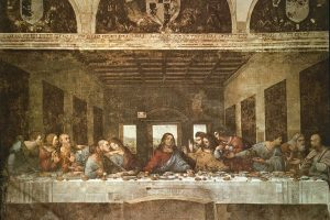 ITALIA MILAN SANTA MARIA GRACIA *LA SANTA CENA 1495-1497 - ANTES DE RESTAURAR obra de  VINCI LEONARDO 1452/1519