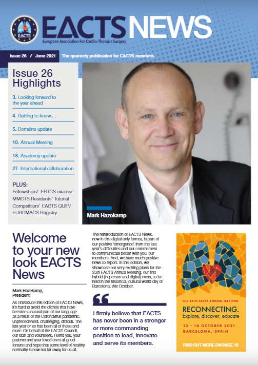 EACTS News – June edition out now!