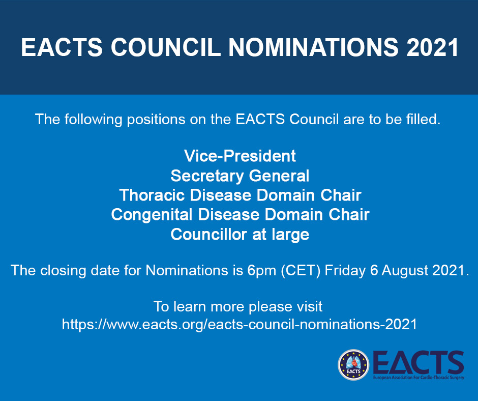 EACTS COUNCIL NOMINATIONS 2021